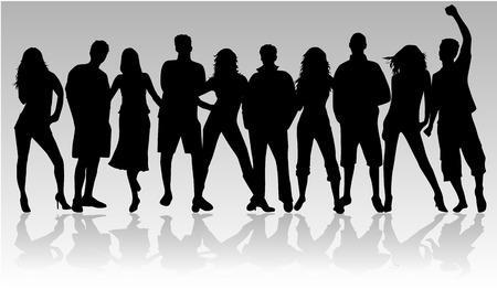ocupation: Young people - black profile  Illustration