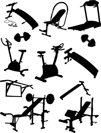 weight machine: Fitness Vector Icons Illustration
