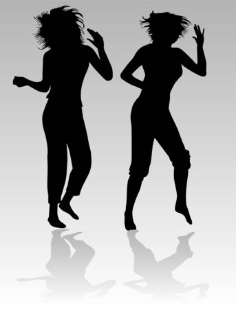 Dancing beautiful girl  Illustration