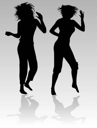 Dancing beautiful girl  Vector