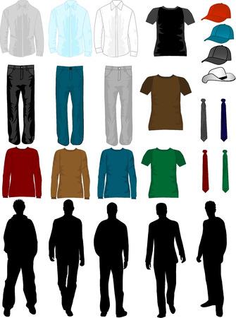 blusa: Colecci�n de hombres vestido, trabajo de vectores