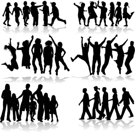Subject Grup of People Stock Vector - 8933729