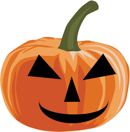 Pumpkin - Halloween , Vector illustration Stock Vector - 8933733