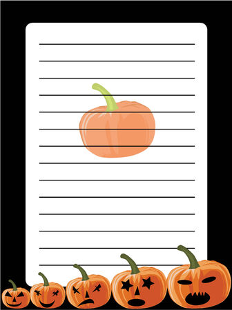 Stationery for Halloween Stock Vector - 8934376