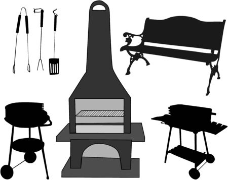 Barbecue Accessories Stock Vector - 8934375