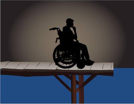 cerebral palsy: Disabled - a conceptual illustration