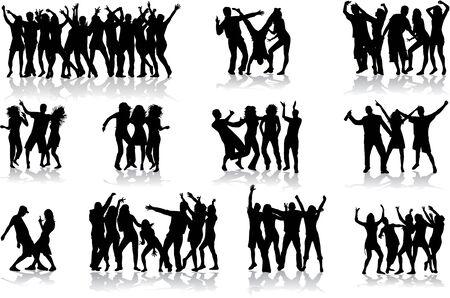 bailarines silueta: Baile siluetas - gran colecci�n  Vectores