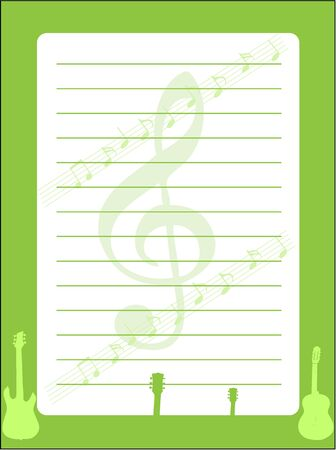 Musical background - Stationery