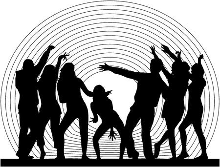 ダンスの人々 のシルエット