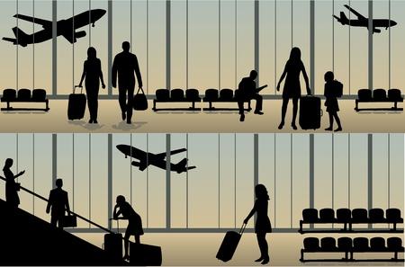 airport- illustration  Vector