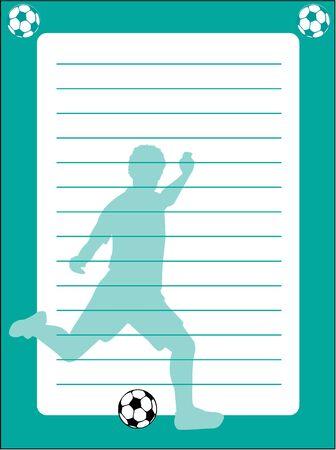 Silhouet van een football-speler - briefpapier Stock Illustratie