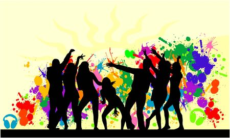 Party-  grunge background Vector