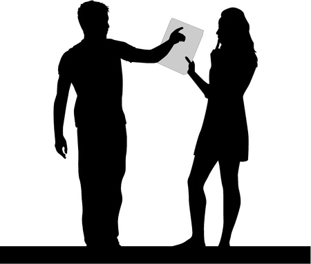 people silhouettes: Interests - profiles of people