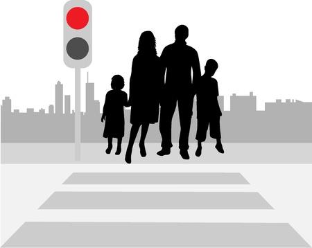 crosswalk: Pedestrian crossing