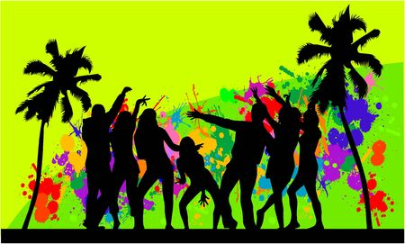 flower show: L'evento in spiaggia-sfondo colorato