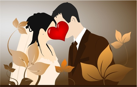 plight: Young Couple - love illustration