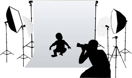 Taking photos for small children Stock Vector - 9718301
