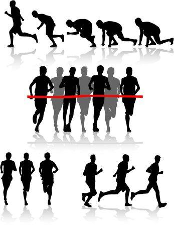 Biegacze  Ilustracje wektorowe