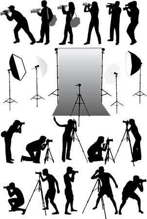 studio equipment, working with vectors