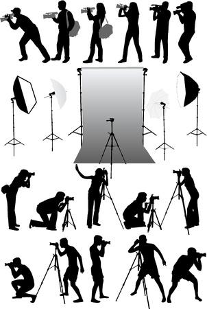 studio shot: studio equipment, working with vectors