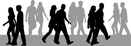 silhouettes of people  向量圖像