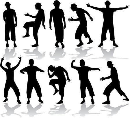 Dancing silhouette Vector