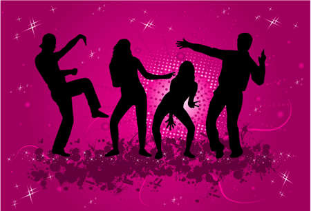 Party - grunge background  Vector