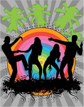 Party - grunge background