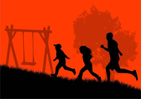 Active Life Family Vector