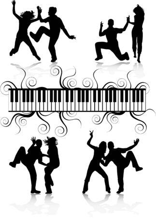 Parti gens dansant Banque d'images - 9718491