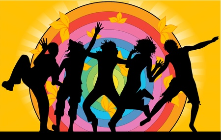 funky music: Party - grunge background