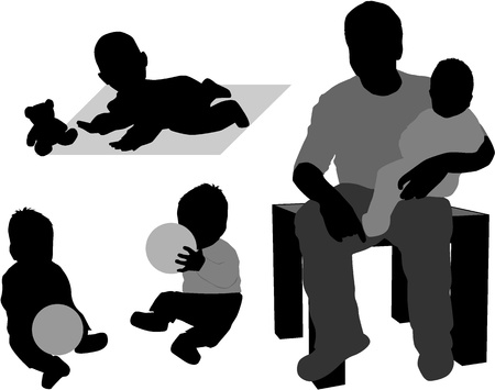 Family - father of the child Stock Vector - 9718361