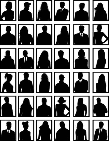 fila de espera: Retrato  Vectores