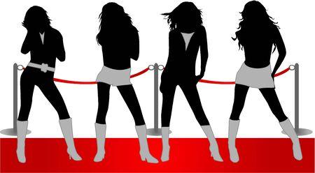 Fashion show - three beautiful models