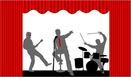 Playing Concert  Vector