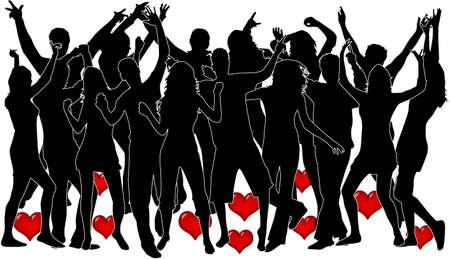 Valentijnsdag evenement Stock Illustratie