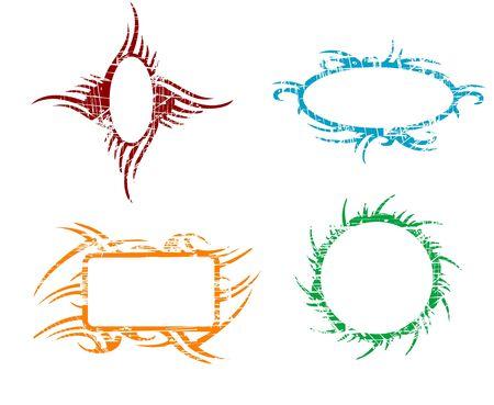 Tribal - Frame, vector work Vector Illustration