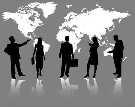 outline map: Business concept - vector work Illustration