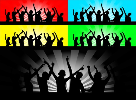 party people dancing Stock Vector - 9830425