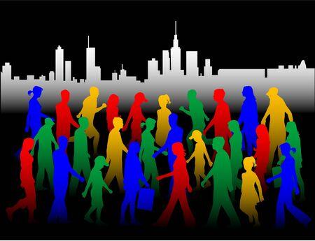ocupation: City Life , vectors work