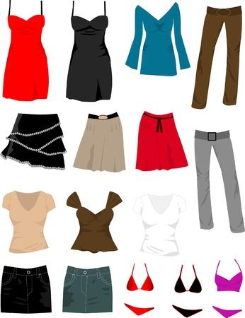 shoping bag: Ladys wardrobe Illustration