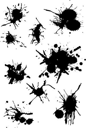 Peinture Splash Banque d'images - 9830505