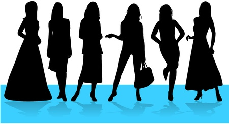 Fashion  Women, vectors work Illustration