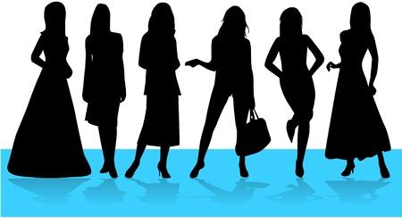 Mode Vrouwen, vectoren werken