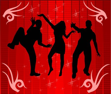 Dance in light of disco , vectors work Vector