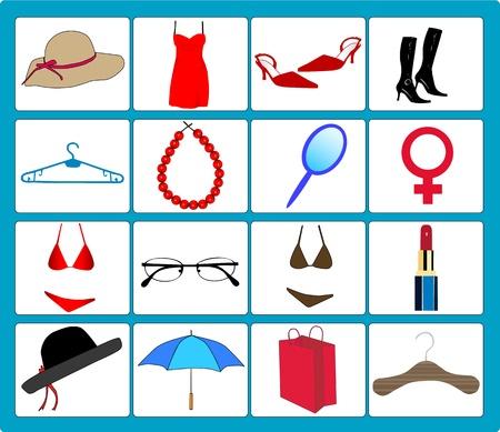 Vrouwen accessoire  Stock Illustratie