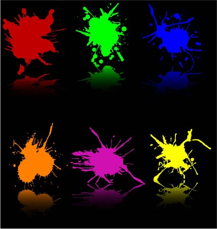paiting: Splash painting-work with vectors