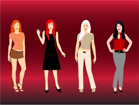 glamur: Girls  Illustration