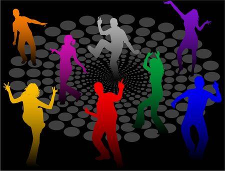 Disco People Vector