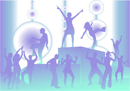Party Scene  Stock Vector - 9931635